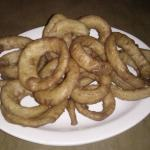 Onion rings were really good!