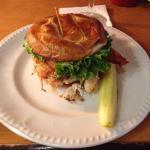 Johnny's turkey pretzel sandwich. It was pretty good. I used extra sauce though.