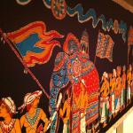 Tapestry in the back room.