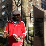 Neal in front of the old location of the Savoy Ballroom