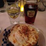 Beer and onion soup
