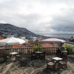 Hotel's terrace overlooking Funchal.