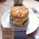 Scone at Lewis's Coffee Shop