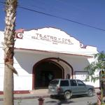 Vista frontal do teatro