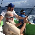 Grandpa getting in on the fishing action