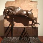 Equestrian image, small bronze piece