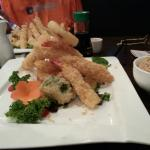 Tempura shrimp, chicken snd veggies.