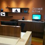 The business center in the front lobby.