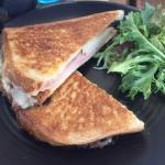 Ham Cheese and Pineapple Toasted Sandwich