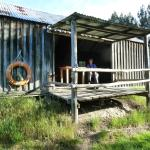 Relaxing in old shed in grounds