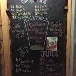 Daily drink menu - really affordable drinks!