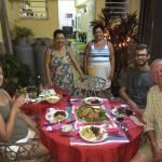 Sra Mercedes, Her Kitchen Helper, and our Christmas Dinner 2014