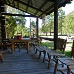 Wapiti Lodge porch