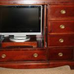Ancient Dresser Hides a Newish TV