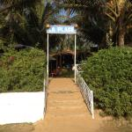La plage entrance from seaside