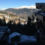 View of Courchevel 1850 from my balcony