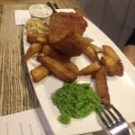 fish and twice cooked chips - yummy