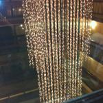 lobby chandelier - view from the elevator