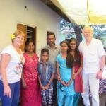 The lovely family that invited us for lunch in the Backwaters