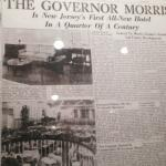 Framed article about the history of the hotel