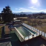 La piscina vista dalla camera
