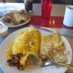 My Western omelette, partially eaten