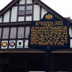 Schuylkill Navy Sign at Boathouse Row