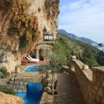 De villa met het zwembad