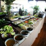 Sunday brunch buffet: Salads and fruits