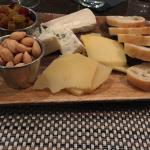 cheese selection paired well with red wine