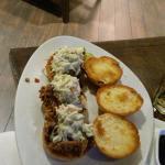 Dinner in the Hotel Restaurant  pork sliders