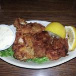 Pan-fried oyster appetizer