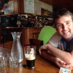 Reilly in Donegal House enjoying a pint of Guinness