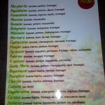 Liste des pizzas a 10€ n'oubliez pas de demander les pizzas suggestions