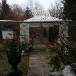 Garden view in the winter