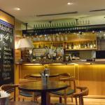 Inside Caveau wines and bar