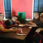 My Wife, my Son, Mom and Dad inside the restaurant
