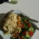 Biggest baked potato ever. Tasty as well!