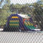 Bouncy castle ready for boisterous kids
