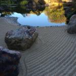 carefully manicured sand in the main garden