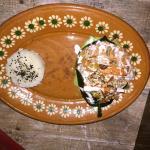 Chile relleno de marisco (Seafood stuffed Poblano pepper)