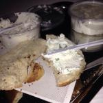 Garlic with scallion cream cheese-guaranteed to keep both women and vampires away!