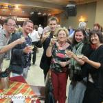 Toasting with new friends at Gotan Tours