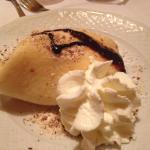 Cold pancake and ice cream