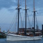 Tall ships in the canal