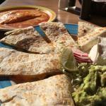 Cheese Enchilada and Cheese Quesadilla