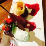 Lovely poached pear dessert