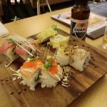 寿司4種盛り アメリカンローメールである