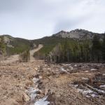 2013 rock & mud slide off Twin Sister Mountain