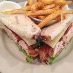 Good turkey club with crispy fries!